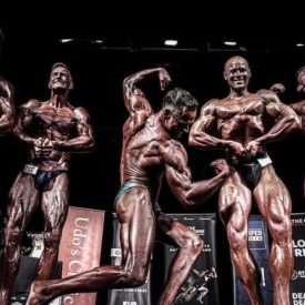 Arnold quarter turn bodybuilding pose