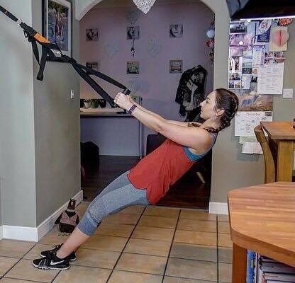 TRX rows at home