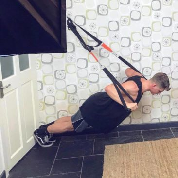 TRX chest pressing from home