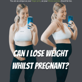 losing weight whilst pregnant